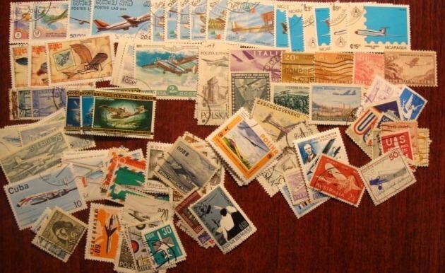 Продам марки корабли самолёты