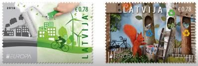 Две новые латвийские марки пропагандируют переработку отходов